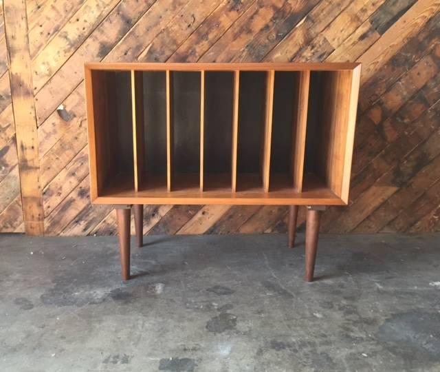 Mid Century Danish Modern Record Storage Cabinet   Image 2 Of 5