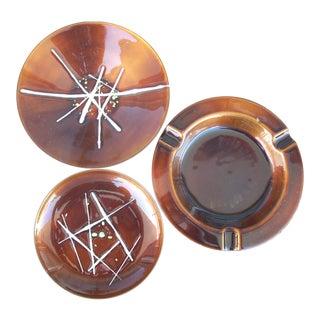 Enamel on Copper Plates - Set of 3