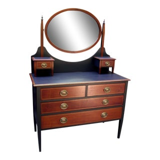 1880's Heirloom Mahogany & Black Dresser