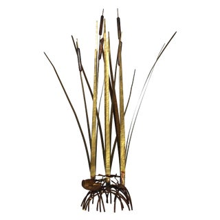Mid Century Kinetic Sculpture of Cattails