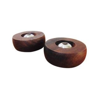 Danish Modern Rosewood Candle Holders - A Pair