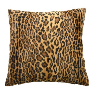 Plush Leopard Printed Pillow