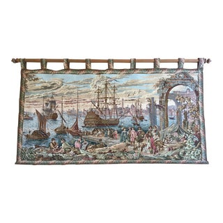 Vintage Italian Woven Tapestry
