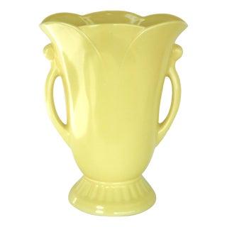 1940's Style Yellow Vase