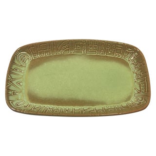 Frankoma Prairie Green Serving Dish, Model 7PS