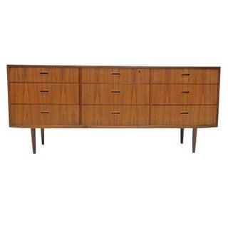 Falster Danish Modern Nine-Drawer Teak Dresser