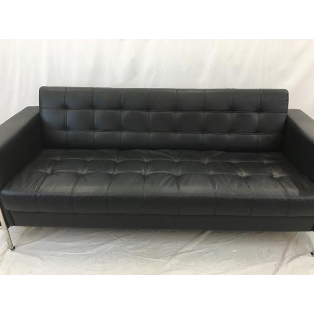 Vintage Leather & Chrome Sofa - Image 5 of 6