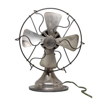 Fitzgerald Nickel Finish Desk Fan