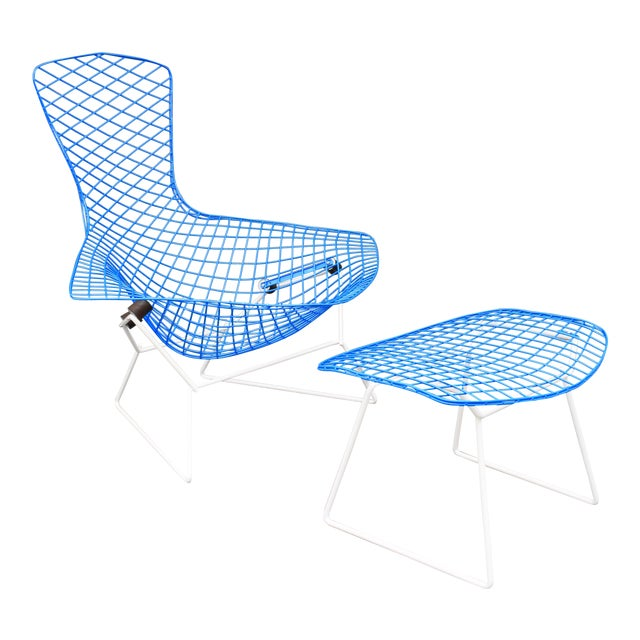 """Mid-Century Modern """"Bird"""" Chair & Ottoman - Image 1 of 10"""