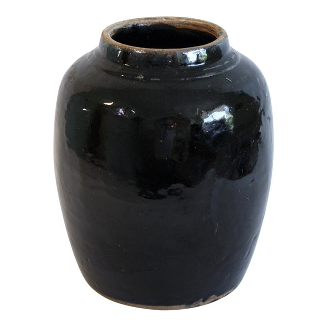 Turkish Glazed Pottery Urn - Image 1 of 5