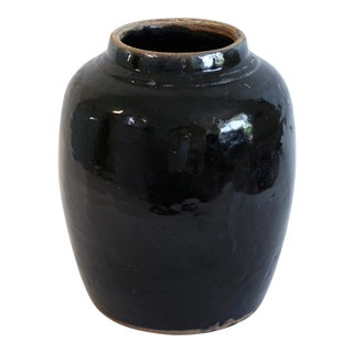 Turkish Glazed Pottery Urn