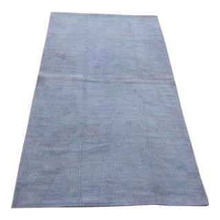 Vintage Turkish Overdyed Oushak Hemp Kilim Rug- 3′ × 5′5″