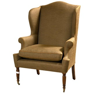 19th Century American Wingback Bergere Chair