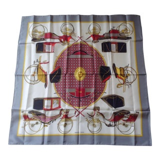 """Classic Hermes """"Les Voitures a Transformation"""" Scarf"""