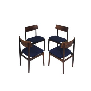 4 Solid Rosewood Danish Dining Chairs