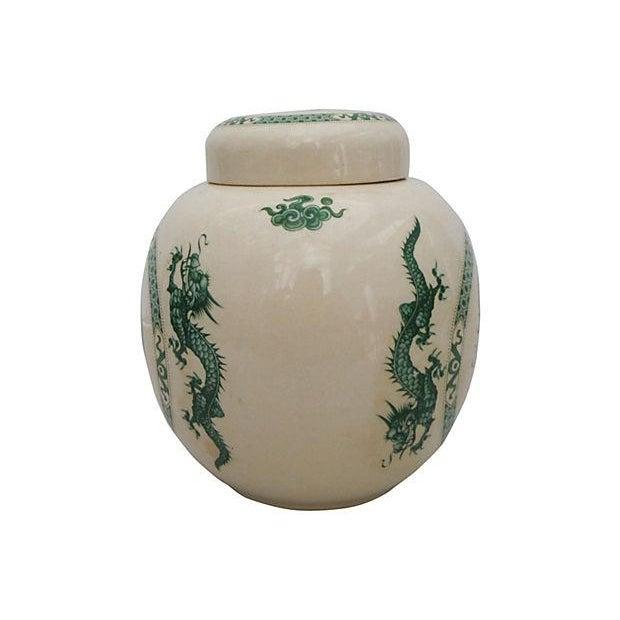 Image of Porcelain Dragon Ginger Jar