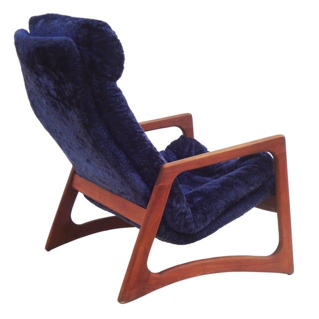 Adrian Pearsall for Craft Blue Lounge Chair - Image 6 of 10