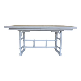 White Glossy Bamboo Dining Table