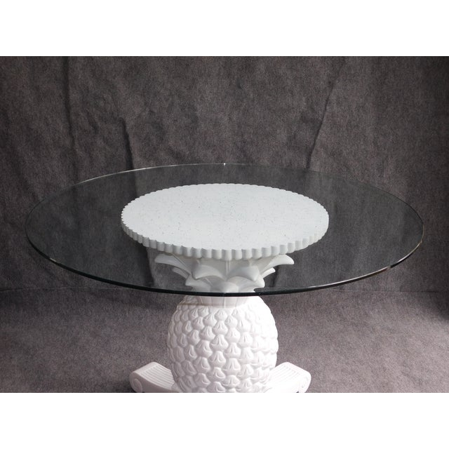 Pineapple Glass Top Dining Table Chairish