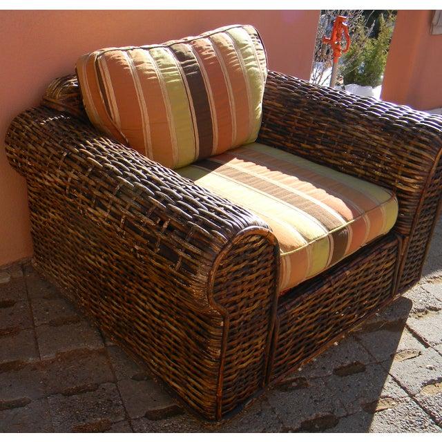 "Ralph Lauren Woven ""Rattan Peel Collection"" Chair"