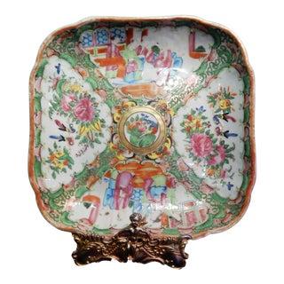 Antique Chinese Export Porcelain Rose Medallion Platter