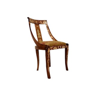19th Century Dutch Chair with Marquetry Inlay