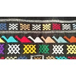 Image of Moroccan Oued Zem Black Cotton Area Rug - 3′ × 4′6″