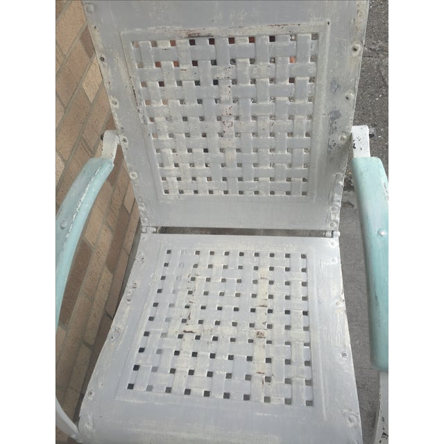 Mid-Century White Patio Chairs - A Pair - Image 5 of 7
