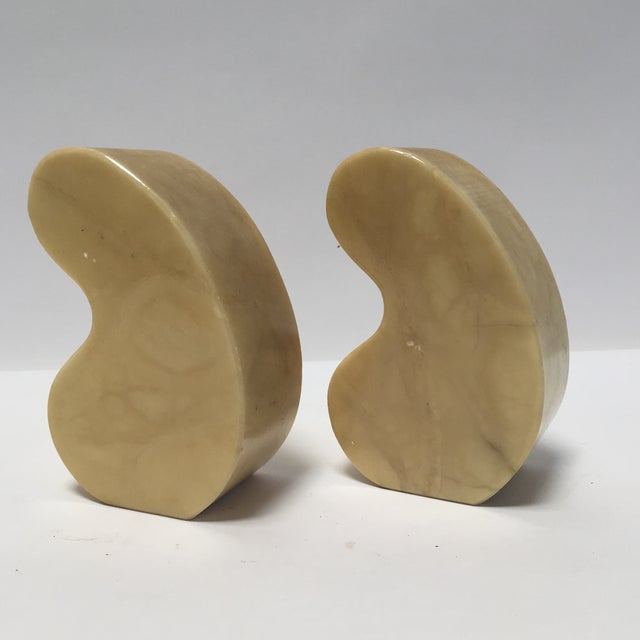 Italian Alabaster Bookends Quotation Mark - Image 3 of 7