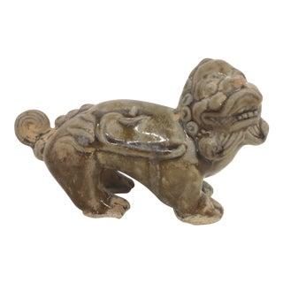 Antique Chinese Clay Glazed Foo Dog