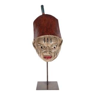 Painted Head Crest Mask on Mount, Probably Yoruba, Nigeria, 20th Century
