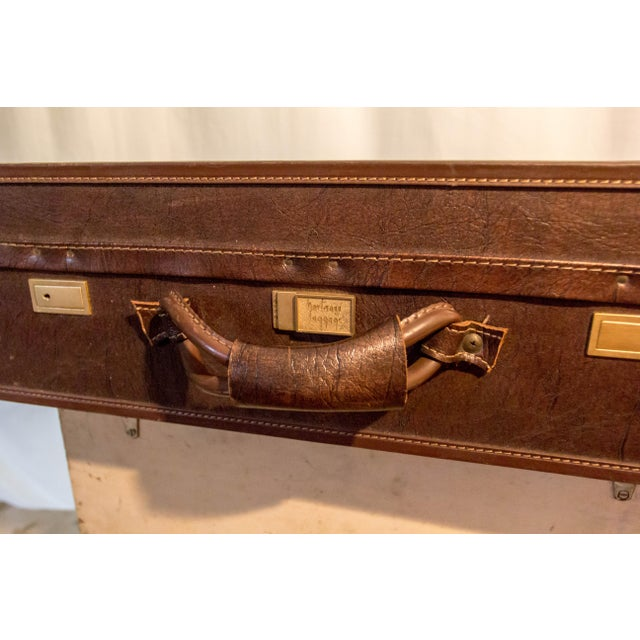 Vintage 1950s Hartmann Leather Suitcase | Chairish