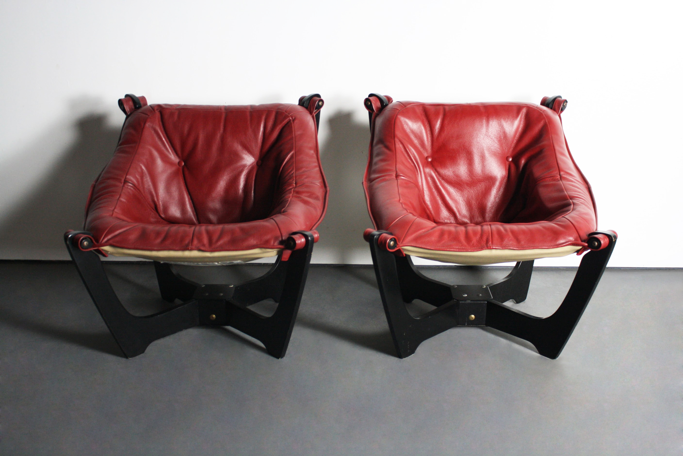 Odd Chairs img norway odd knutsen luna chairs - pair | chairish