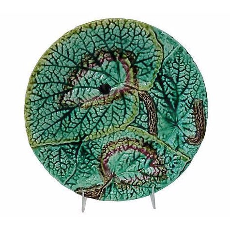 Antique English Majolica Wall Plate - Image 1 of 3