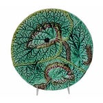 Image of Antique English Majolica Wall Plate