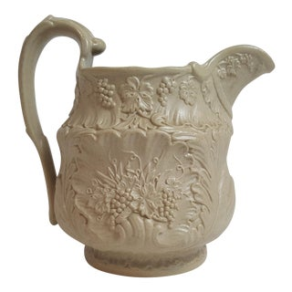 Cream Parian Ware Pitcher