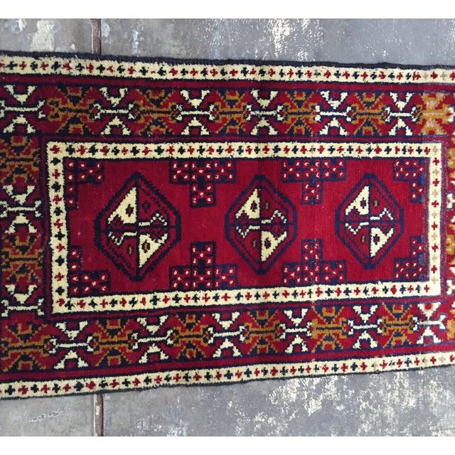 Turkaman Handmade Persian Rug - 1′8″ × 2′11″ - Image 3 of 11