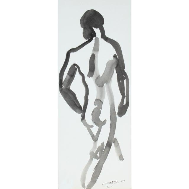 L. Lengyel Vintage 1979 Ink Wash Nude Painting - Image 1 of 2