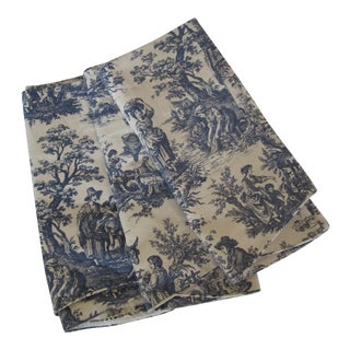Blue Toile Valences - Set of 3