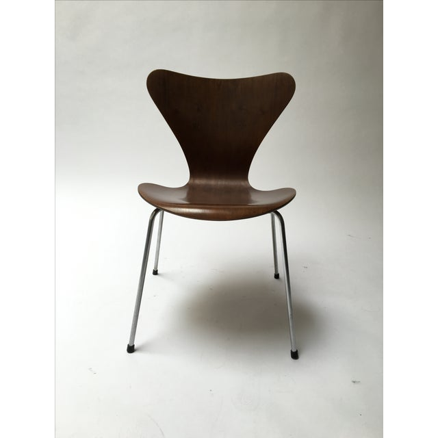 vintage arne jacobsen series 7 chair chairish. Black Bedroom Furniture Sets. Home Design Ideas