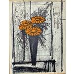 Image of Bernard Buffet Orange Flower Lithograph