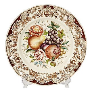 English Fruit & Floral Dinner Plate