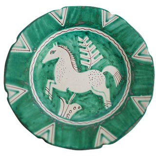 Hand-Painted Italian Horse Plate