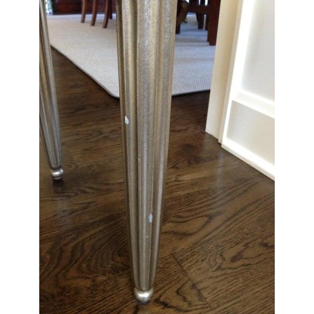 Interior Crafts Silver Leaf Upholstered Bench - Image 5 of 11