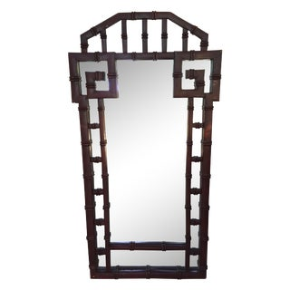 Vintage Faux Bamboo Greek Key Mirror