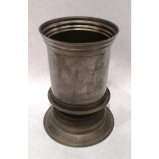 English Vintage Pewter Vase - Image 5 of 5