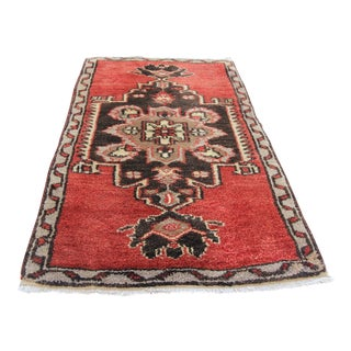 "Vintage Turkish Oushak Tribal Rug- 2'1"" x 3'5"""
