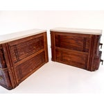 Image of Vintage Wood Two-Drawer Cabinets - A Pair