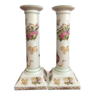 Sadek Floral Ceramic Candle Holders - A Pair
