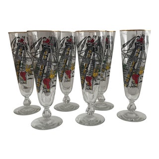 Pirate Pilsner Glasses - Set of 6